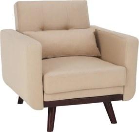 Szétnyitható fotel, bézs, ARKADIA