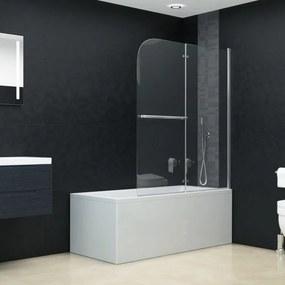 Esg zuhanykabin 2 paneles összecsukható ajtóval 95 x 140 cm