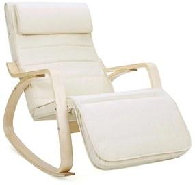 Hintaszék, relaxációs szék, 5 fokban állítható lábtartó