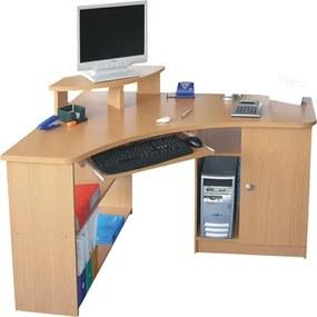 Dante L-alakú, sarok számítógépasztal