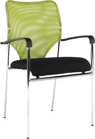 Szék tárgyalóterembe, zöld/fekete, UMUT