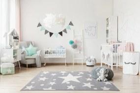 ESTRELLA gyerekszõnyeg ezüstszürke – fehér csillagokkal