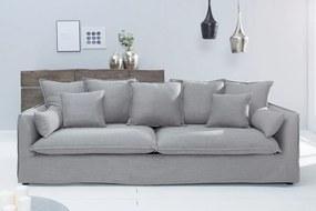 HEAVEN modern 3 személyes kanapé - szürke - 215cm