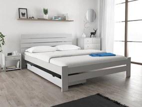 Magnat PARIS magasított ágy 140x200 cm, fehér Ágyrács: Ágyrács nélkül, Matrac: Deluxe 15 cm matraccal