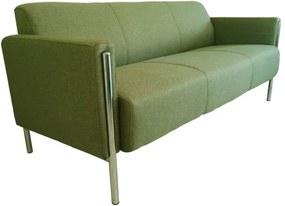 Loft modern 3 személyes kanapé kárpitozott kivitelben, krómozott acél vázzal