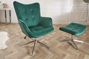 LOUNGER zöld karfás szék