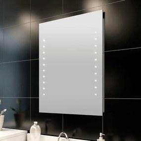vidaXL fürdőszobatükör LED-fényekkel 50 x 60 cm (Ho x Ma)