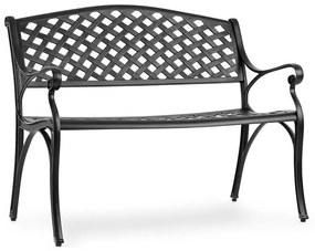 Pozzilli BL, kerti pad, öntött alumínium, időjárásálló, fekete