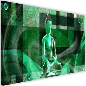 Modern kép 120x80cm – Buddha On A Geometric Background 2