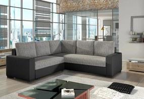 ANDREW sarok ülőgarnitúra, 240x90x240 cm, berlin 01/soft 011 black