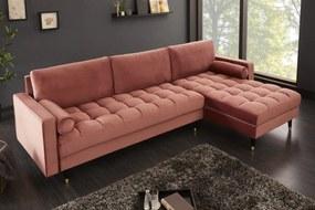 COZY VELVET design bársony kanapé - lazac