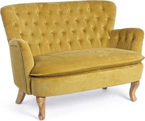 ORLINS mustársárga kanapé 2 személyes