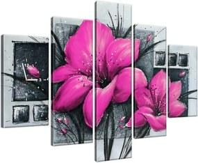 Órás falikép Gyönyörű rózsaszín pipacsok 150x105cm ZP2456A_5H