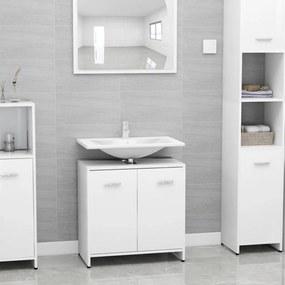 vidaXL fehér forgácslap fürdőszobaszekrény 60 x 33 x 58 cm