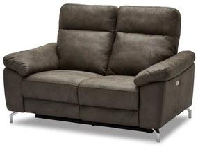 Stílusos 2-személyes kanapé Abeeku - barna