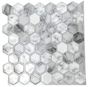 Felragasztható csempe - 3D mozaik - Márvány 6-szög 30,5 x 30,5 cm
