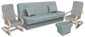 Megan garnitúra, ágynemű tartós bútor,   gr049 (középszürke)