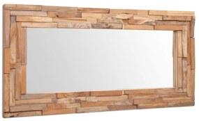 vidaXL dekoratív és téglalap-alakú tükör tíkfából 120 x 60 cm