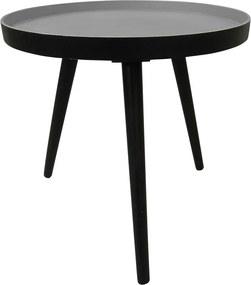 Sasha fekete tárolóasztal, ⌀ 41 cm - WOOOD