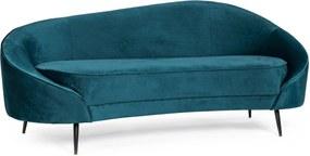 SERAPHIN kék bársony kanapé
