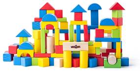 Woody Kockák építőkészlet, 100 db-os