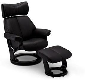 Relax bőr fotel Abdul fekete
