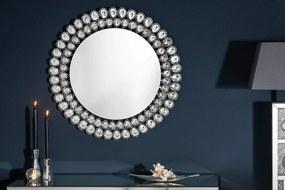 BIG DIAMONDS ezüst üveg tükör 80x3x80