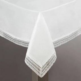 Mariela csipkés asztalterítő Ezüst 140 x 220 cm - HS330471