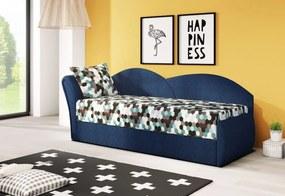 RICCARDO kinyitható kanapé, 200x80x75 cm, ac1 + sötétkék (AC-1/alova 79), balos