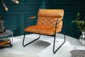 MUSTANG vintage fotel - sárga