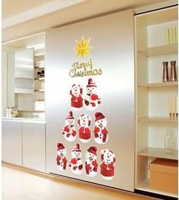 Snowmen 11 db-os karácsonyi öntapadós matrica készlet - Ambiance