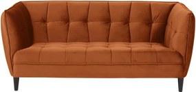 Jonna világosszürke bársony kanapé, 182 cm - Actona