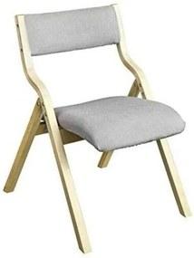 SoBuy® FST40-HG, fa párnázott összecsukható szék szett, 2 db