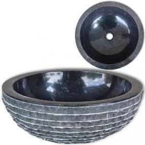 Fekete fürdőszobai mosdókagyló 40 cm