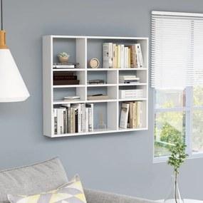 vidaXL fehér forgácslap fali polc 90 x 16 x 78 cm