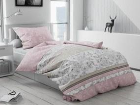 Forenza rózsaszín pamut ágyneműhuzat Ágynemű mérete: 70x90 cm, 140x200 cm