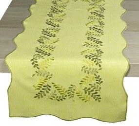 Levelek abrosz, sárga, 35 x 160 cm, 35 x 160 cm