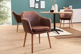CANDIS design szék - vintage  barna