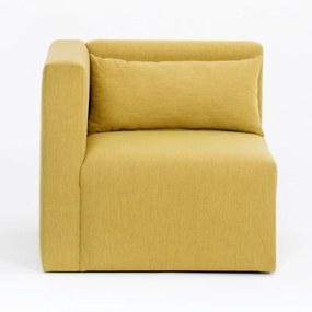 Plus Sarok sárga egyszemélyes kanapé