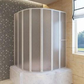 Zuhanyzó kádparaván 140 x 168 cm 7 panelek behajtható törülközőtartó