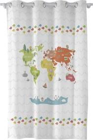 World Map függöny, 135 x 180 cm - Happynois