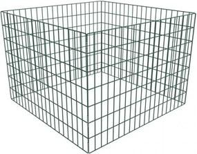 Négyzet alakú rácsos komposztáló 100 x 100 x 70 cm