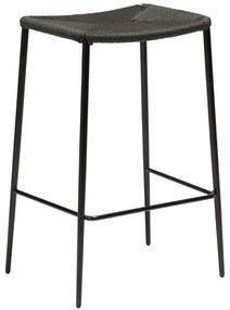 Stiletto fekete bárszék acél lábakkal - DAN-FORM Denmark