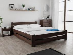 Laura ágy 160x200 cm, diófa Ágyrács: Deszkás ágyráccsal, Matrac: Deluxe 15 cm matraccal