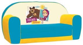 Bino szétnyitható kanapéágy, Mása és a medve, 42 x 78 x 36 cm
