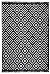 Helen fekete-fehér kétoldalas szőnyeg, 80 x 150 cm