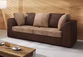 CLOE 3 kanapé, JumboMocca+ViperBrown