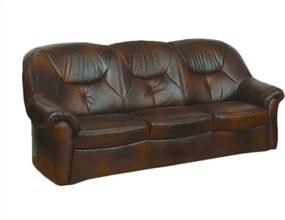 COM-Salvador 3 személyes, fix bőr kanapé