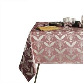 Floris rózsaszín asztalterítő, 140 x 220 cm - AmeliaHome