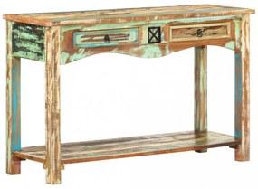 Tömör újrahasznosított fa tálalóasztal 120 x 40 x 75 cm